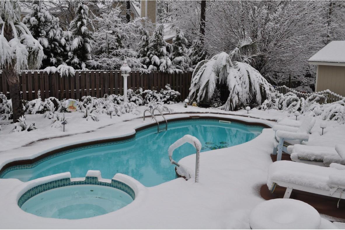 Cosa fare per chiudere una piscina d'inverno?